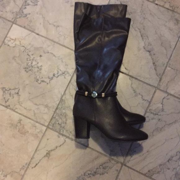 Karen Scott Womens Galee Wide Calf Knee-High Dress Boots